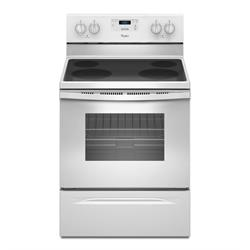 Whirlpool White smooth top range WFE320M0EW1 Image