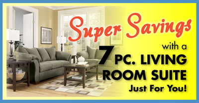 Super Savings on affordable living room groups